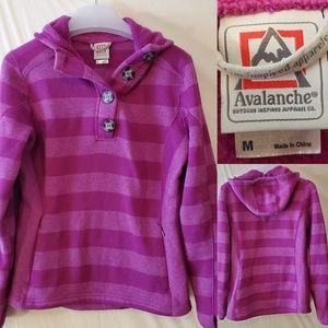 💥 M | AVALANCHE | STRIPED SWEATER HOODIE JACKET